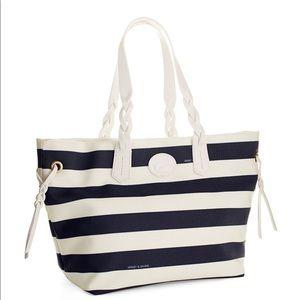 Dooney & Bourke Blue & White Striped Tote Bag
